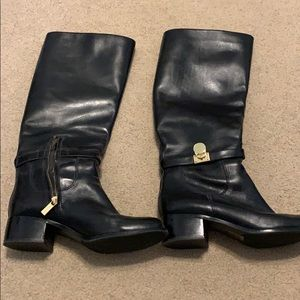 Michael kors leather boots size 8